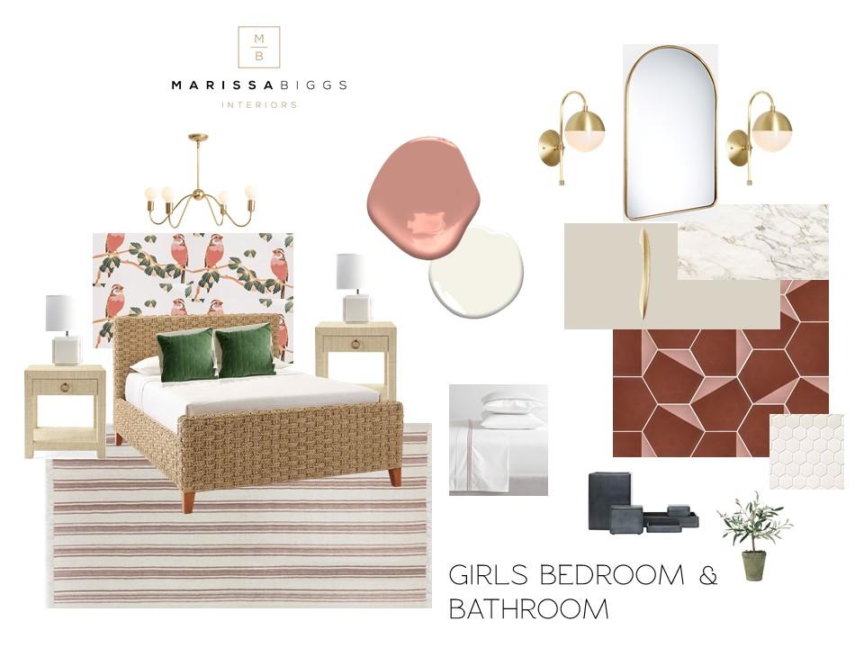 Girls Bedroom E-Design